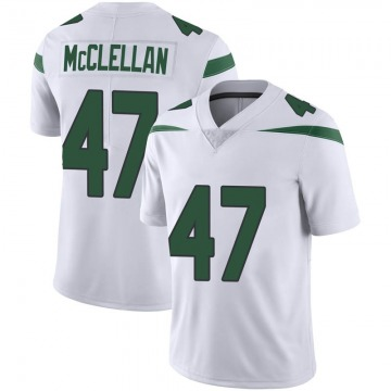 Men's Nike New York Jets Albert McClellan Spotlight White Vapor Jersey - Limited