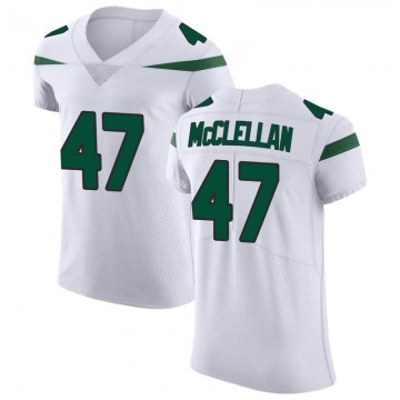 Men's Nike New York Jets Albert McClellan Spotlight White Vapor Untouchable Jersey - Elite