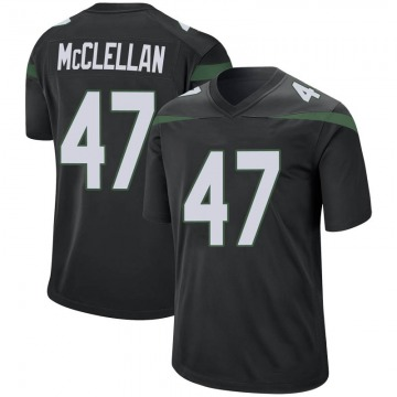 Men's Nike New York Jets Albert McClellan Stealth Black Jersey - Game