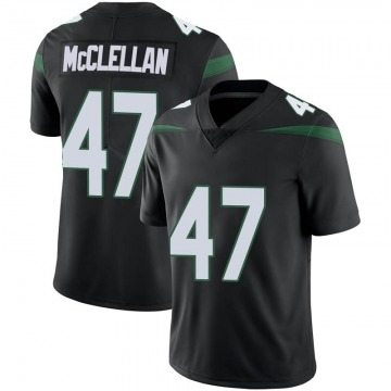 Men's Nike New York Jets Albert McClellan Stealth Black Vapor Jersey - Limited