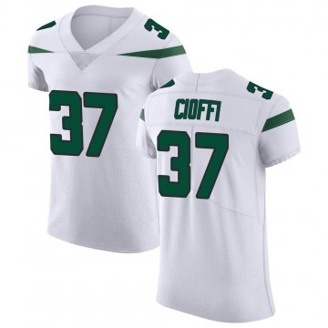 Men's Nike New York Jets Anthony Cioffi Spotlight White Vapor Untouchable Jersey - Elite