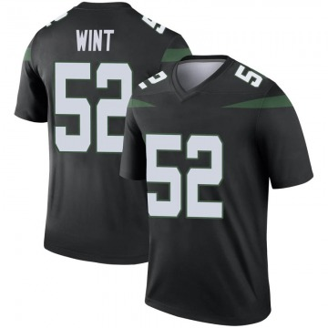 Men's Nike New York Jets Anthony Wint Stealth Black Color Rush Jersey - Legend