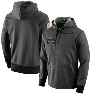 Men's Nike New York Jets Anthracite Salute to Service Player Performance Hoodie -