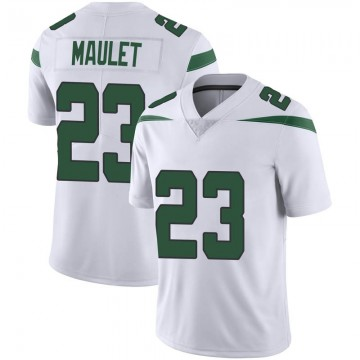 Men's Nike New York Jets Arthur Maulet Spotlight White Vapor Jersey - Limited