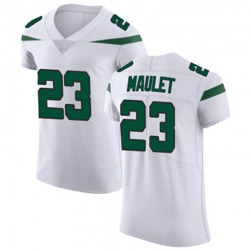 Men's Nike New York Jets Arthur Maulet Spotlight White Vapor Untouchable Jersey - Elite