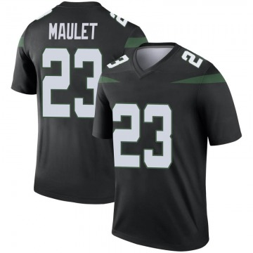Men's Nike New York Jets Arthur Maulet Stealth Black Color Rush Jersey - Legend