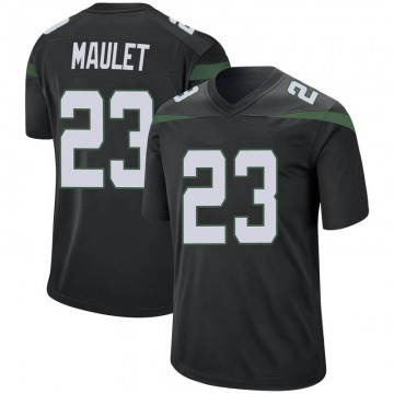 Men's Nike New York Jets Arthur Maulet Stealth Black Jersey - Game