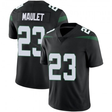 Men's Nike New York Jets Arthur Maulet Stealth Black Vapor Jersey - Limited