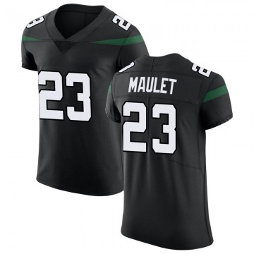 Men's Nike New York Jets Arthur Maulet Stealth Black Vapor Untouchable Jersey - Elite