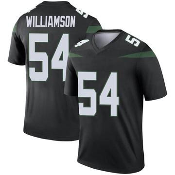 Men's Nike New York Jets Avery Williamson Stealth Black Color Rush Jersey - Legend