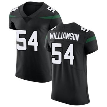 Men's Nike New York Jets Avery Williamson Stealth Black Vapor Untouchable Jersey - Elite