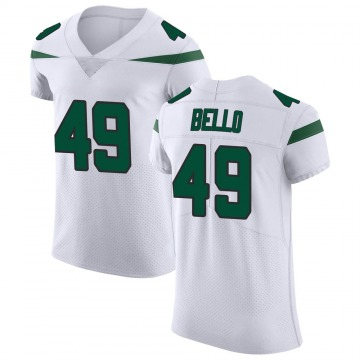 Men's Nike New York Jets B.J. Bello Spotlight White Vapor Untouchable Jersey - Elite