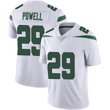 Men's Nike New York Jets Bilal Powell Spotlight White Vapor Jersey - Limited