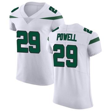 Men's Nike New York Jets Bilal Powell Spotlight White Vapor Untouchable Jersey - Elite