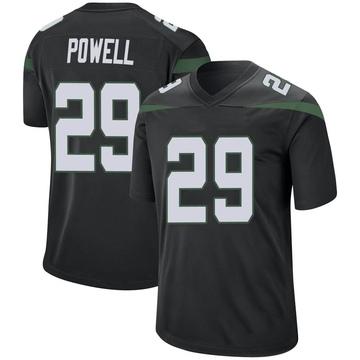 Men's Nike New York Jets Bilal Powell Stealth Black Jersey - Game