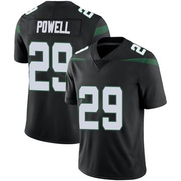 Men's Nike New York Jets Bilal Powell Stealth Black Vapor Jersey - Limited
