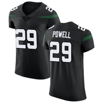 Men's Nike New York Jets Bilal Powell Stealth Black Vapor Untouchable Jersey - Elite