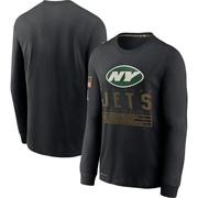 Men's Nike New York Jets Black 2020 Salute to Service Sideline Performance Long Sleeve T-Shirt -