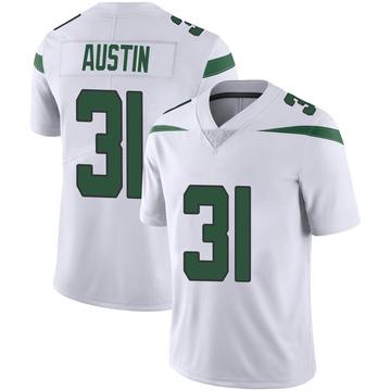 Men's Nike New York Jets Blessuan Austin Spotlight White Vapor Jersey - Limited