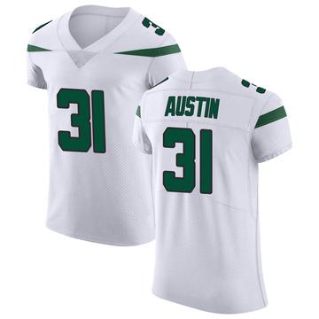 Men's Nike New York Jets Blessuan Austin Spotlight White Vapor Untouchable Jersey - Elite