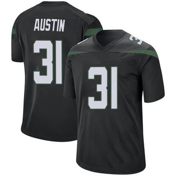 Men's Nike New York Jets Blessuan Austin Stealth Black Jersey - Game