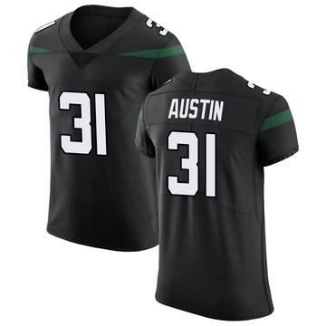 Men's Nike New York Jets Blessuan Austin Stealth Black Vapor Untouchable Jersey - Elite