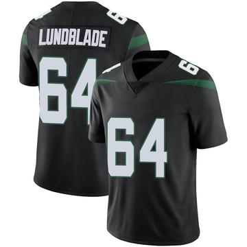 Men's Nike New York Jets Brad Lundblade Stealth Black Vapor Jersey - Limited