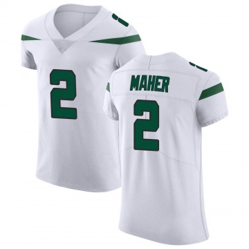 Men's Nike New York Jets Brett Maher Spotlight White Vapor Untouchable Jersey - Elite