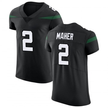 Men's Nike New York Jets Brett Maher Stealth Black Vapor Untouchable Jersey - Elite