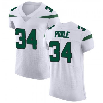 Men's Nike New York Jets Brian Poole Spotlight White Vapor Untouchable Jersey - Elite