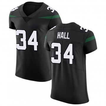 Men's Nike New York Jets Bryce Hall Stealth Black Vapor Untouchable Jersey - Elite