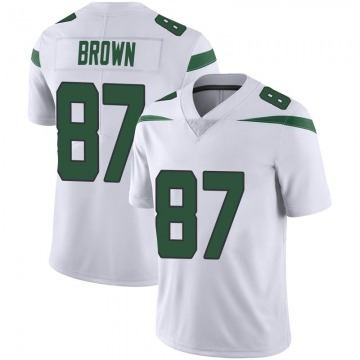 Men's Nike New York Jets Daniel Brown Spotlight White Vapor Jersey - Limited