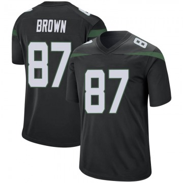 Men's Nike New York Jets Daniel Brown Stealth Black Jersey - Game