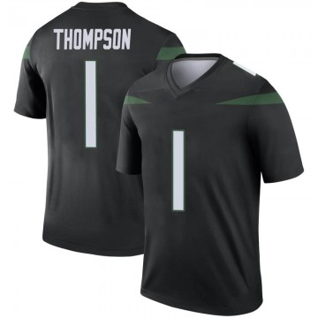 Men's Nike New York Jets Deonte Thompson Stealth Black Color Rush Jersey - Legend