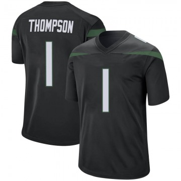 Men's Nike New York Jets Deonte Thompson Stealth Black Jersey - Game