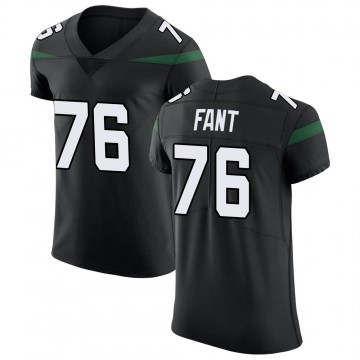 Men's Nike New York Jets George Fant Stealth Black Vapor Untouchable Jersey - Elite