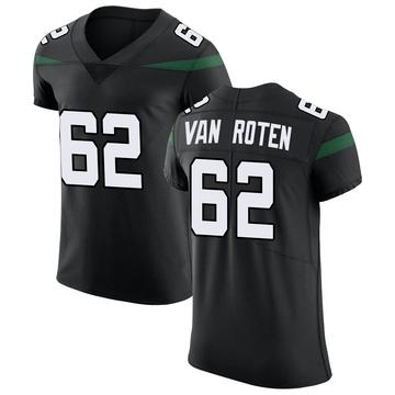 Men's Nike New York Jets Greg Van Roten Stealth Black Vapor Untouchable Jersey - Elite