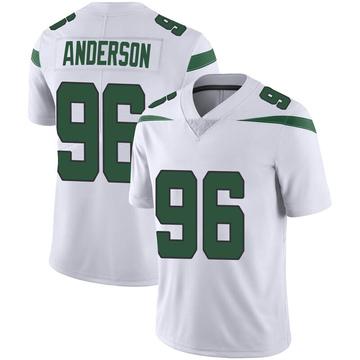 Men's Nike New York Jets Henry Anderson Spotlight White Vapor Jersey - Limited