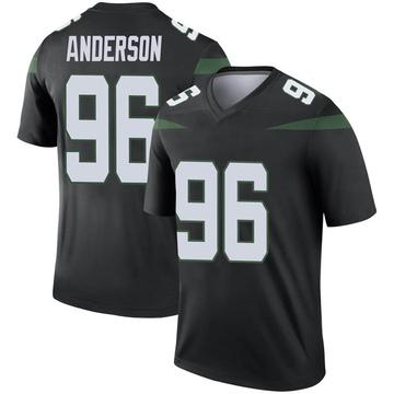 Men's Nike New York Jets Henry Anderson Stealth Black Color Rush Jersey - Legend