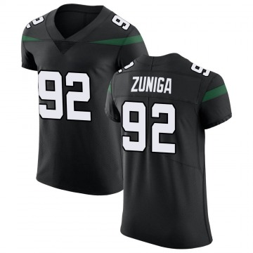 Men's Nike New York Jets Jabari Zuniga Stealth Black Vapor Untouchable Jersey - Elite