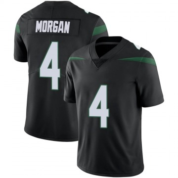 Men's Nike New York Jets James Morgan Stealth Black Vapor Jersey - Limited