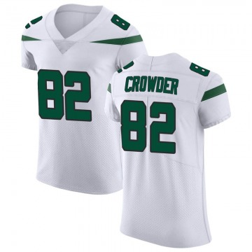 Men's Nike New York Jets Jamison Crowder Spotlight White Vapor Untouchable Jersey - Elite