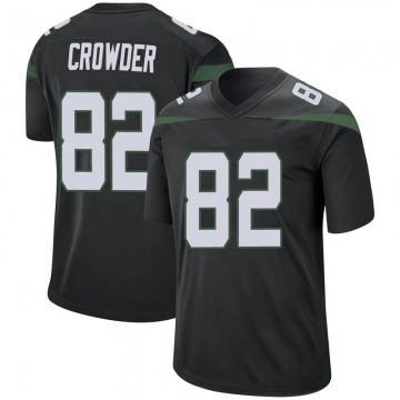 Men's Nike New York Jets Jamison Crowder Stealth Black Jersey - Game