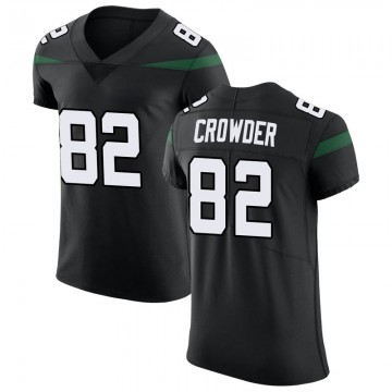 Men's Nike New York Jets Jamison Crowder Stealth Black Vapor Untouchable Jersey - Elite