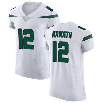 Men's Nike New York Jets Joe Namath Spotlight White Vapor Untouchable Jersey - Elite