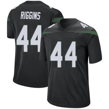 Men's Nike New York Jets John Riggins Stealth Black Jersey - Game
