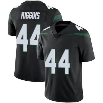 Men's Nike New York Jets John Riggins Stealth Black Vapor Jersey - Limited