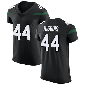 Men's Nike New York Jets John Riggins Stealth Black Vapor Untouchable Jersey - Elite