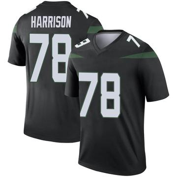 Men's Nike New York Jets Jonotthan Harrison Stealth Black Color Rush Jersey - Legend