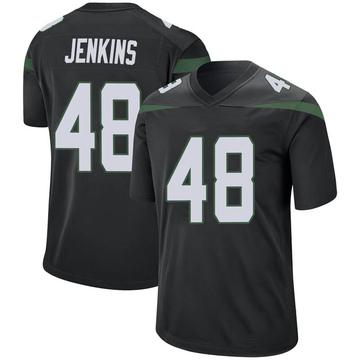 Men's Nike New York Jets Jordan Jenkins Stealth Black Jersey - Game